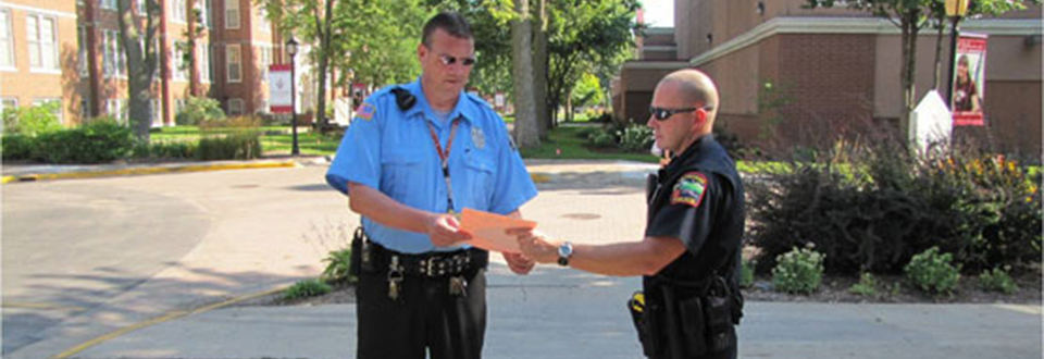 Officers on campus