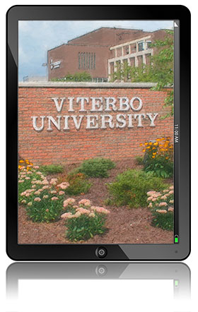 Tablet Viterbo University Sign