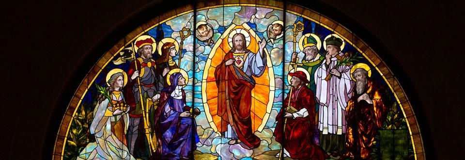 catholic identity stain glass window1